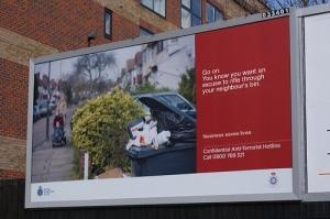 Anti-terrorism billboard - Dave Cross