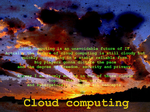 Cloud computing - artist in doing nothing