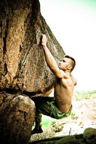 Boulder hanging